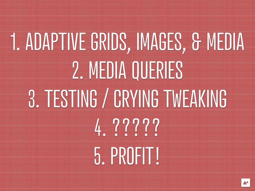 1. ADAPTIVE GRIDS, IMAGES, & MEDIA 2. MEDIA QUE...
