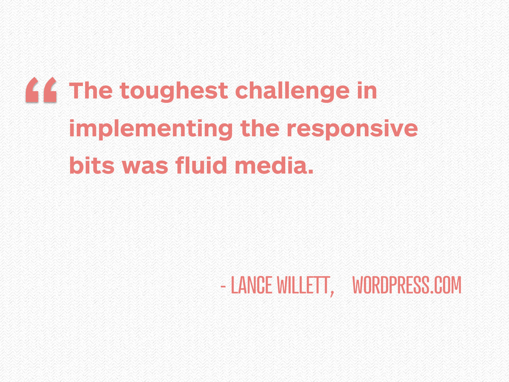 - LANCE WILLETT, WORDPRESS.COM The toughest cha...