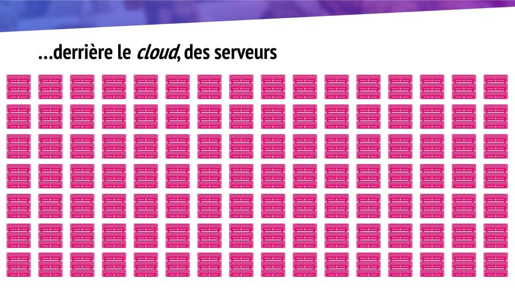 …derrière le cloud, des serveurs