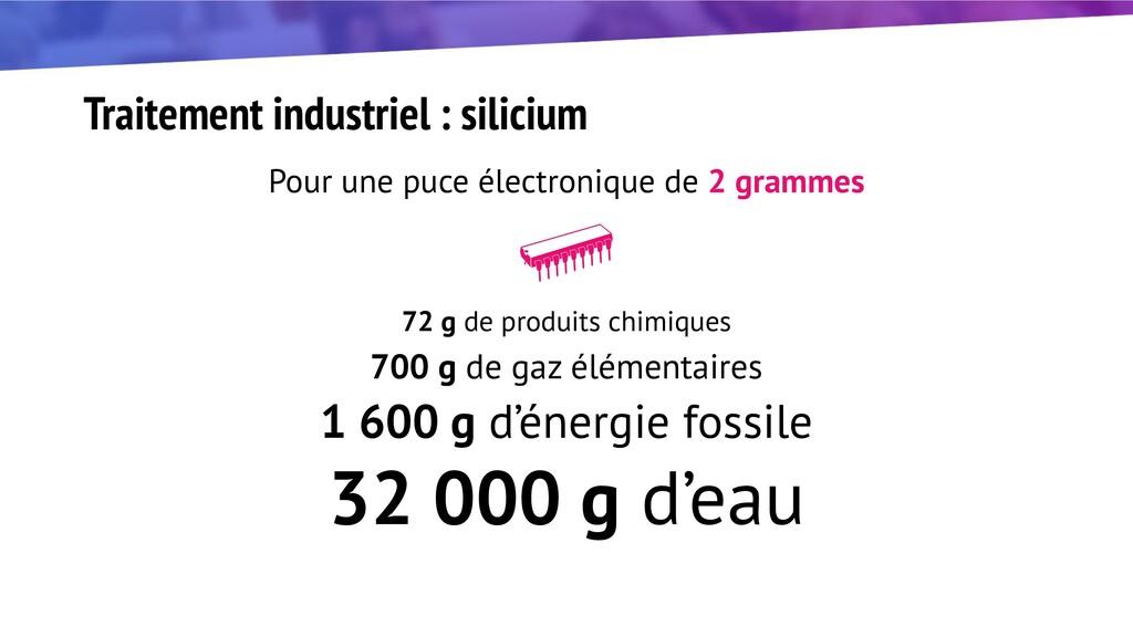 Traitement industriel : silicium Pour une puce ...