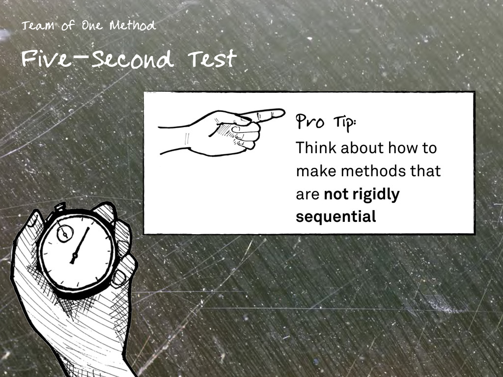 Team of One Method Five-Second Test Pro Tip: Th...