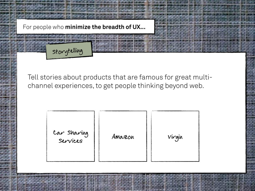 Tell stories about products that are famous for...