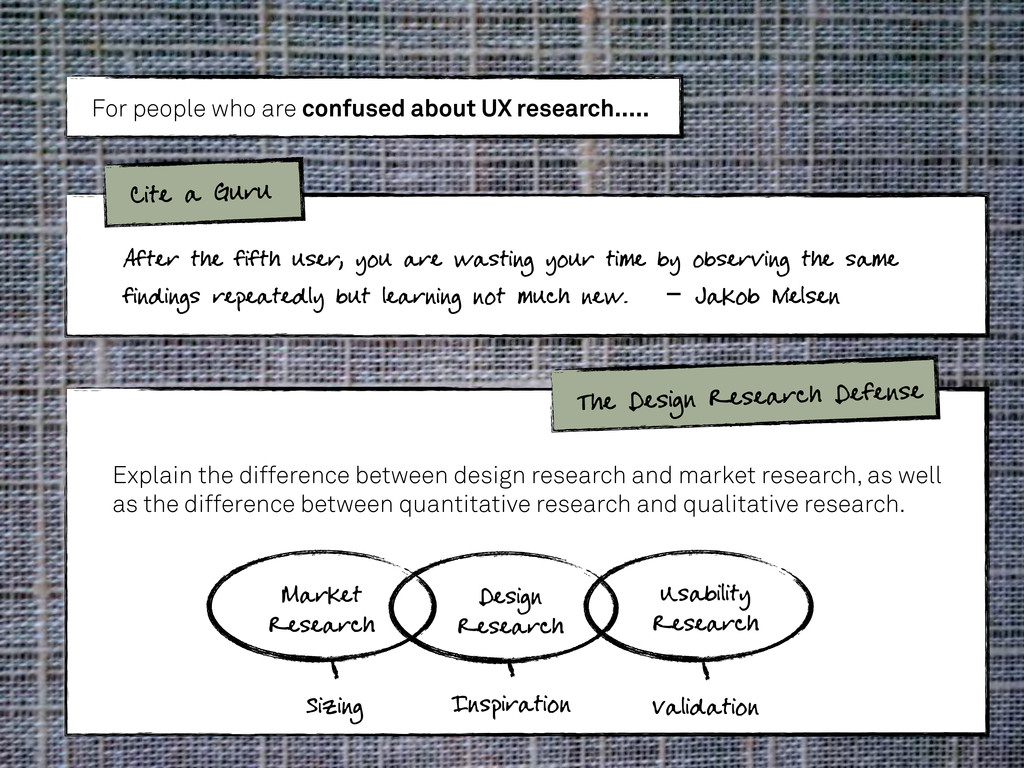 For people who are confused about UX research.....