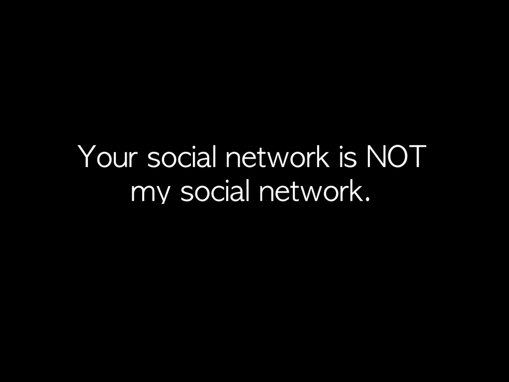 Your	 social	 network	 is	 NOT	  my	 social	 ne...