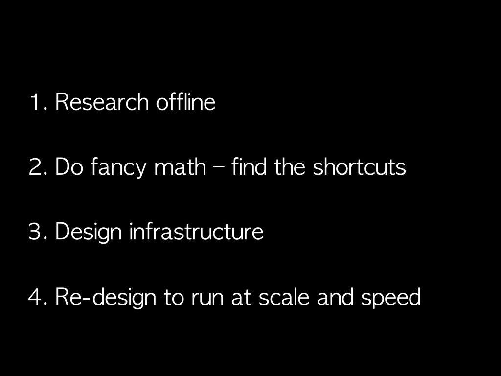 1. Research	 offline 2. Do	 fancy	 math	 –	 fin...