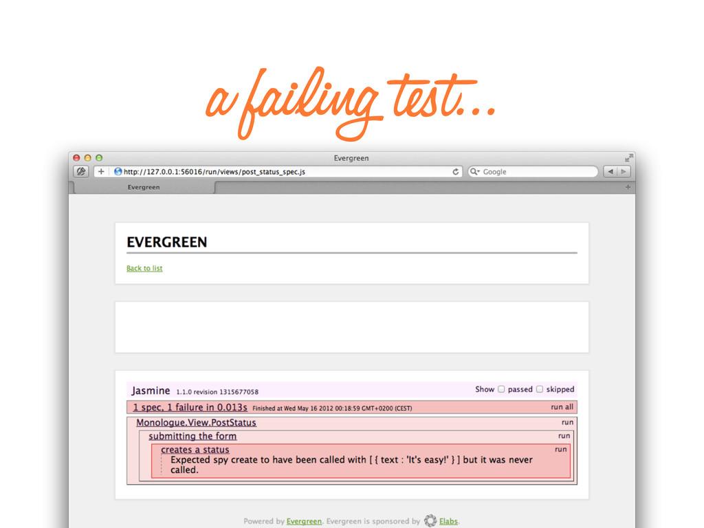 a failing test...