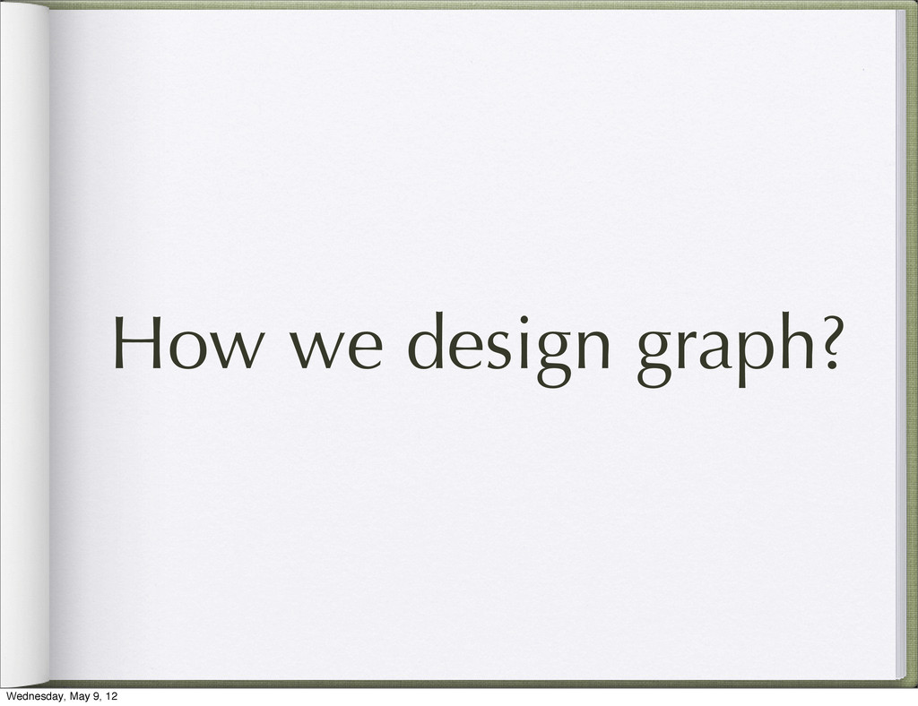 How we design graph? Wednesday, May 9, 12