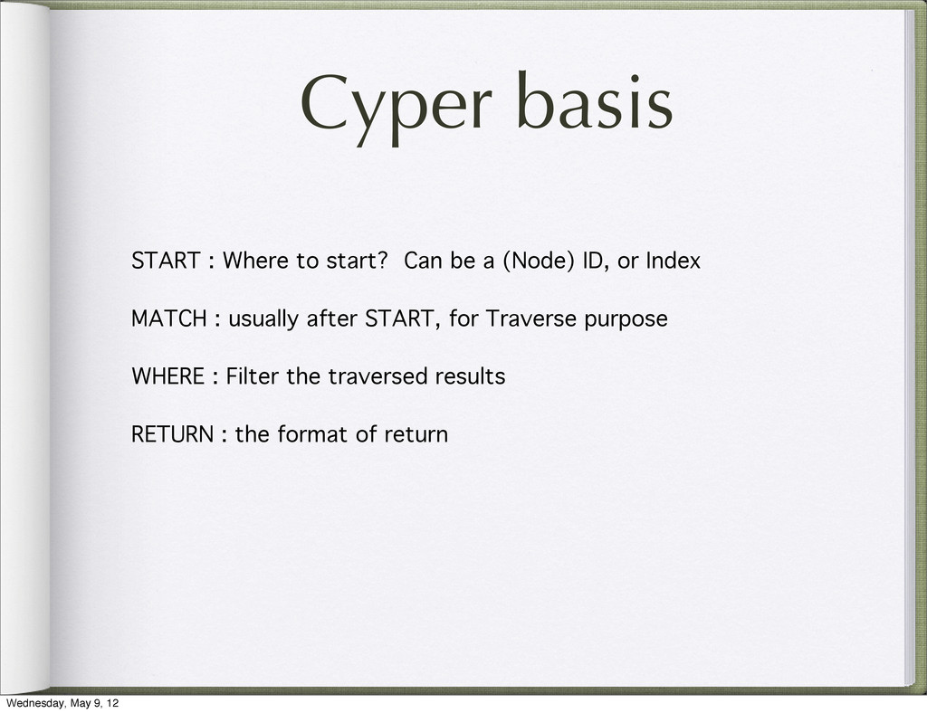 Cyper basis START : Where to start? Can be a (N...