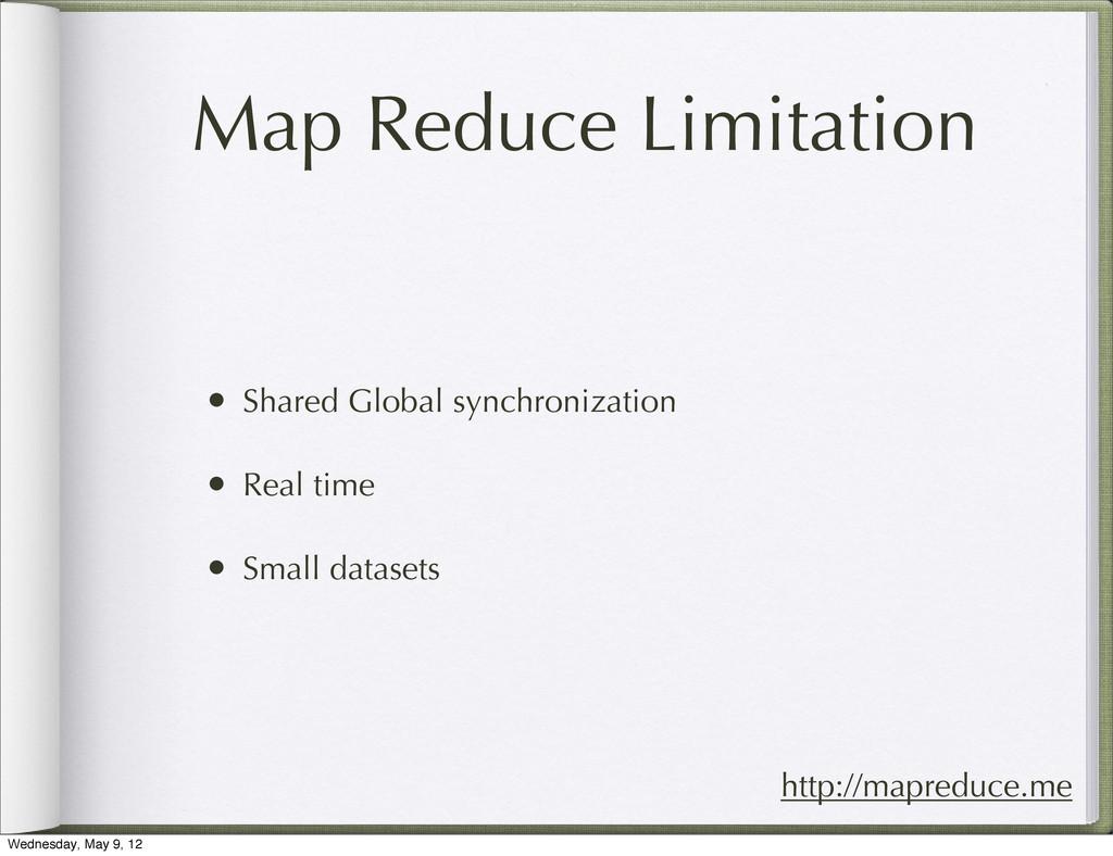 Map Reduce Limitation • Shared Global synchroni...