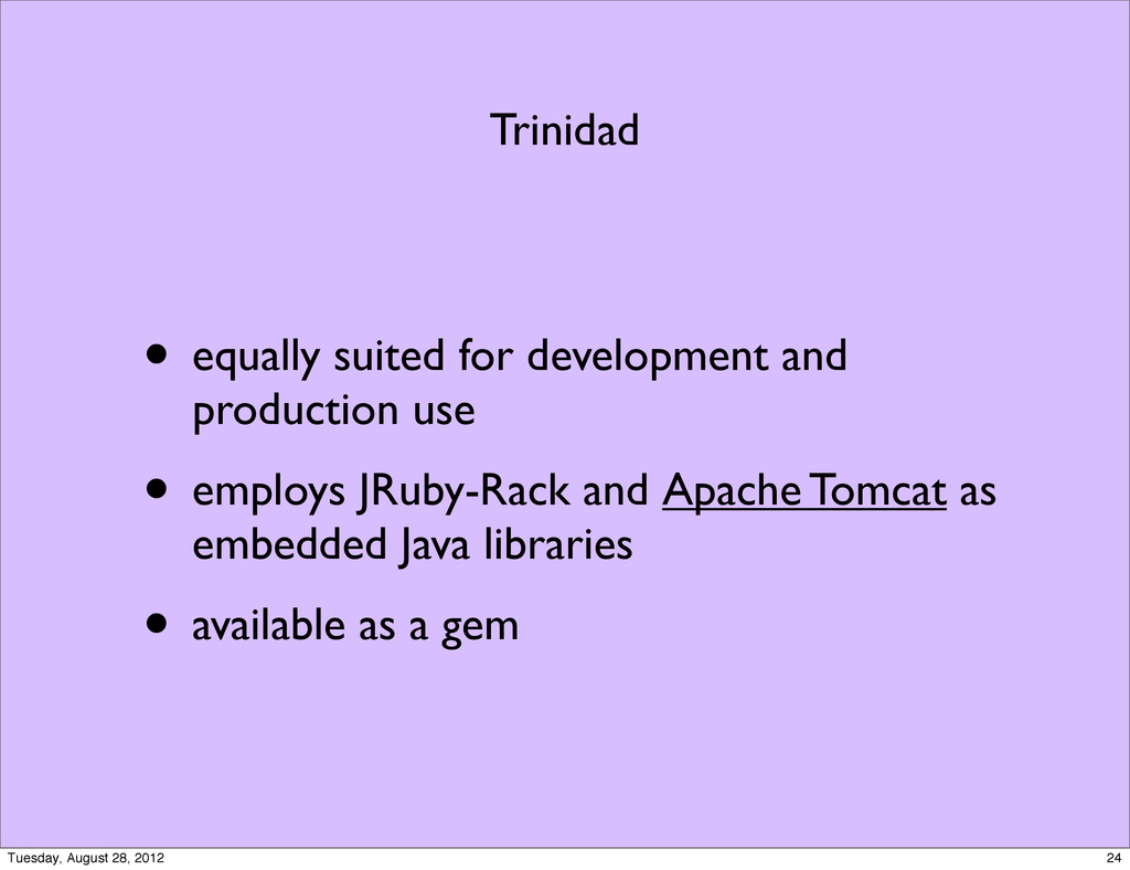 Trinidad • equally suited for development and p...