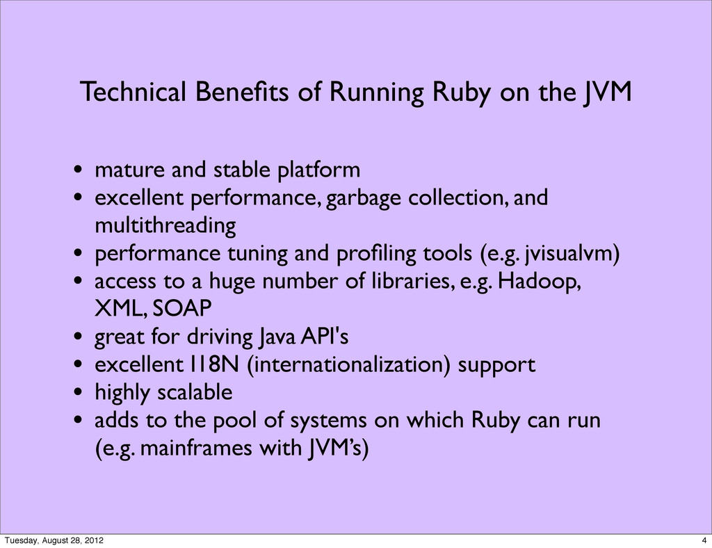 Technical Benefits of Running Ruby on the JVM • ...