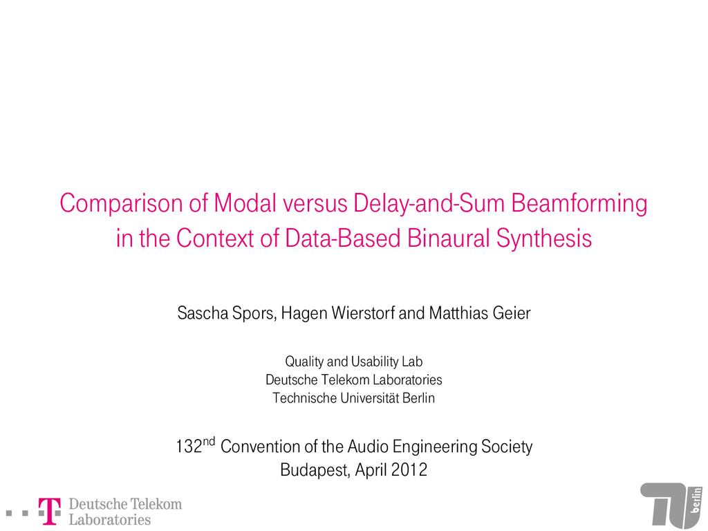 Comparison of Modal versus Delay-and-Sum Beamfo...