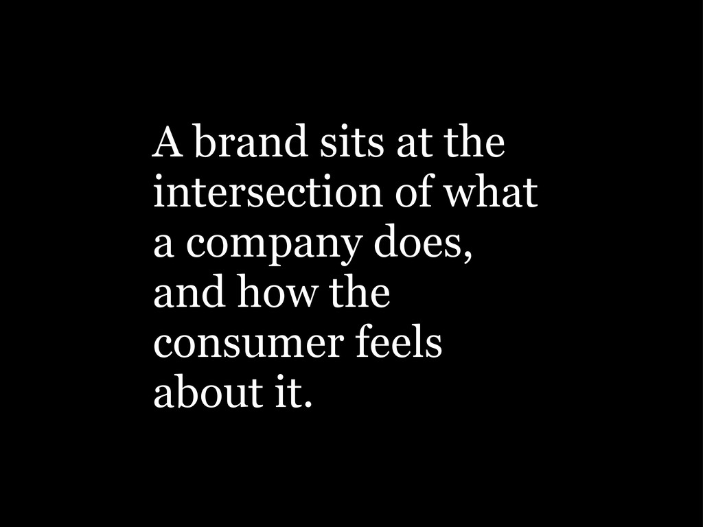 A brand sits at the intersection of what a comp...