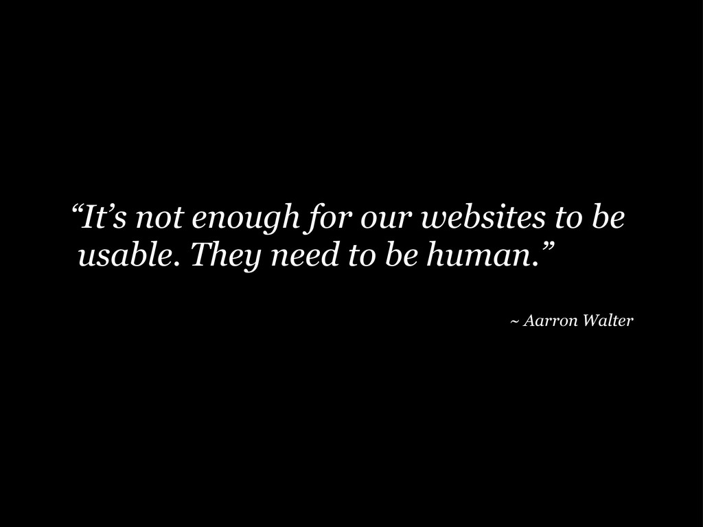 """""""It's not enough for our websites to be usable...."""