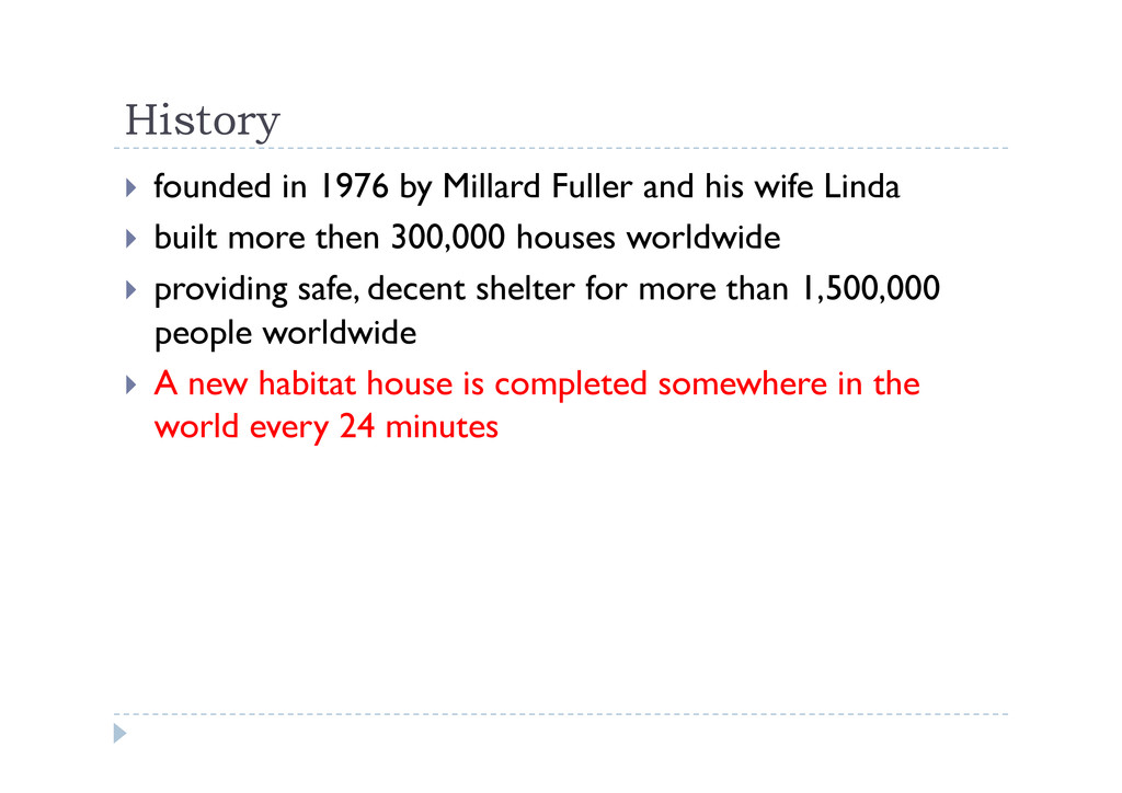 History  founded in 1976 by Millard Fuller an...