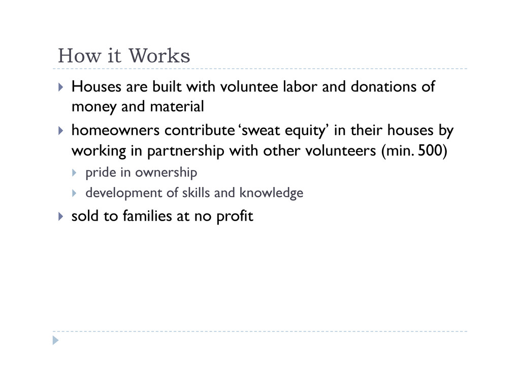 How it Works  Houses are built with voluntee ...