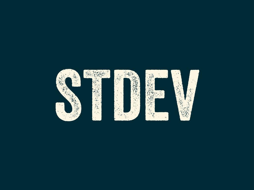 STDEV