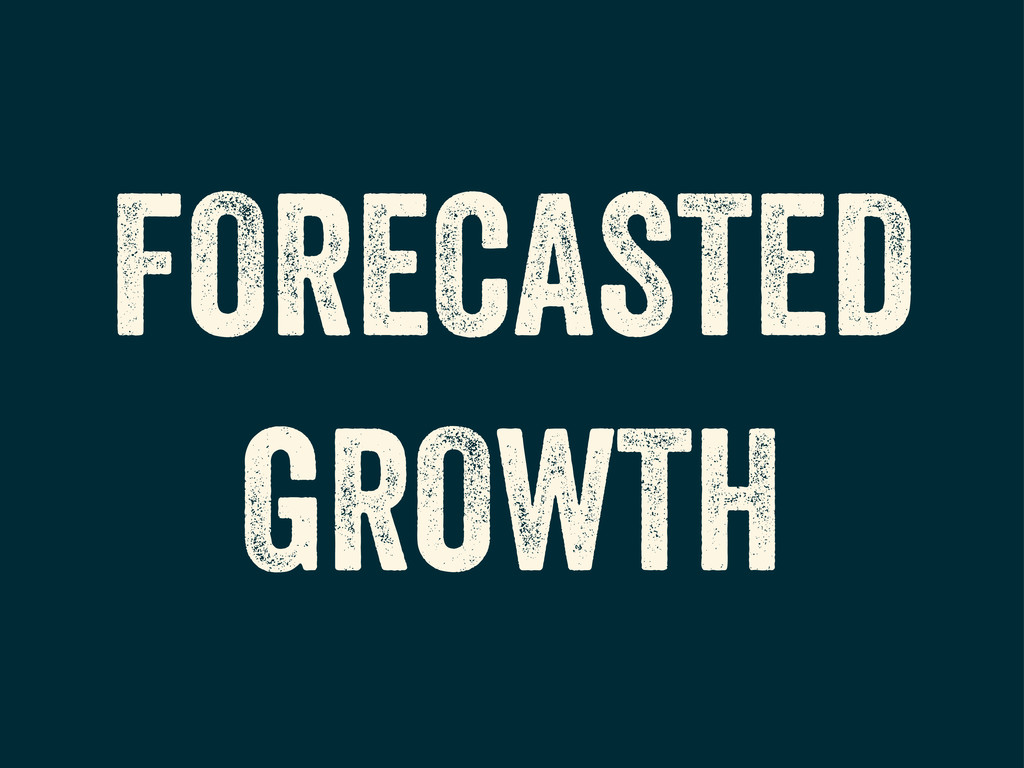 FORECASTED GROWTH