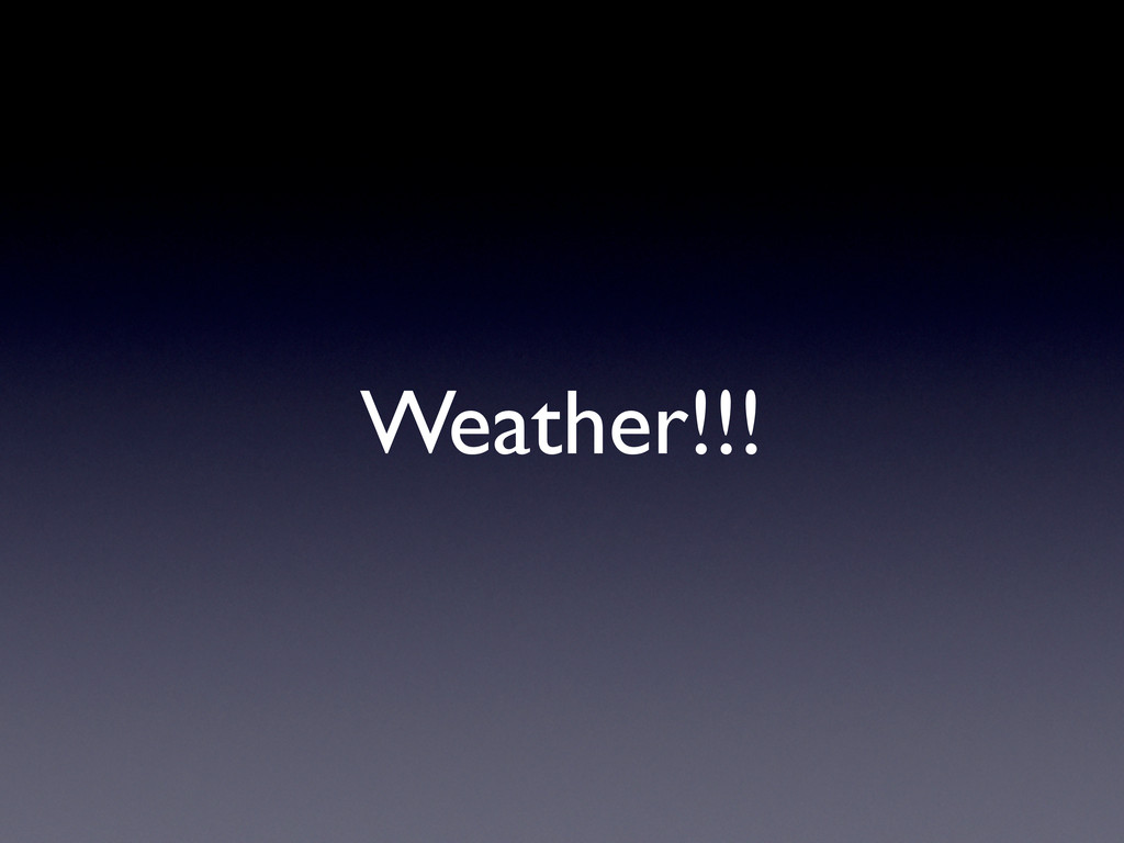 Weather!!!