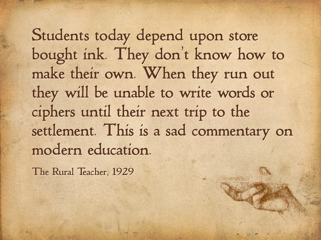 Students today depend upon store bought ink. Th...