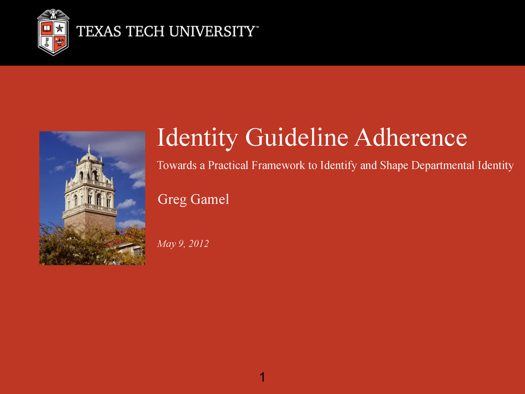 Identity Guideline Adherence Towards a Practica...
