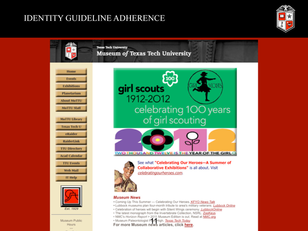 IDENTITY GUIDELINE ADHERENCE 11