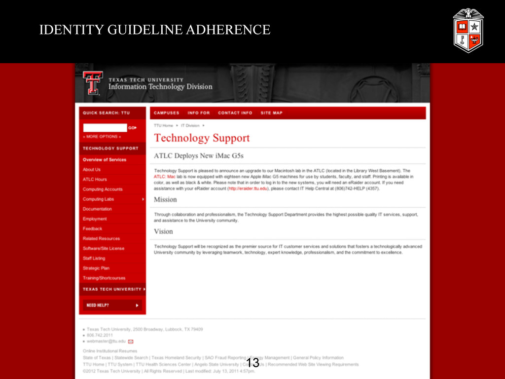 IDENTITY GUIDELINE ADHERENCE 13