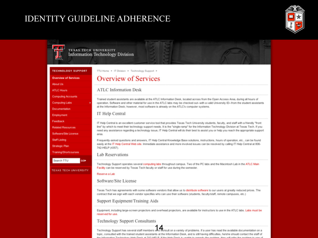 IDENTITY GUIDELINE ADHERENCE 14