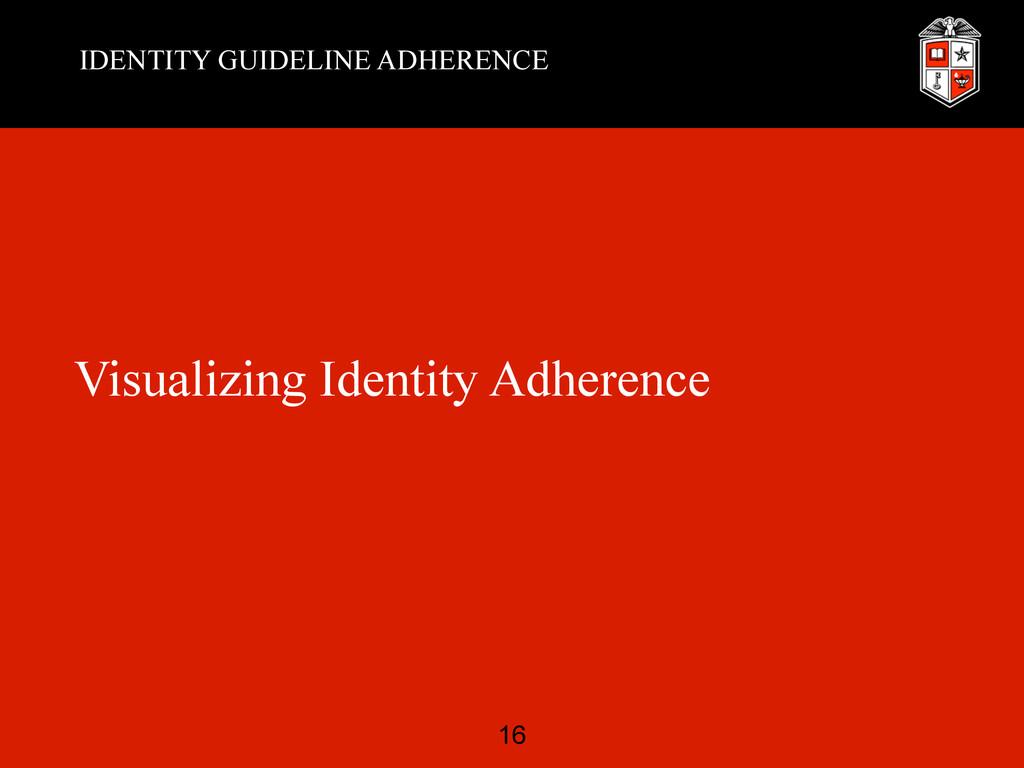 IDENTITY GUIDELINE ADHERENCE Visualizing Identi...