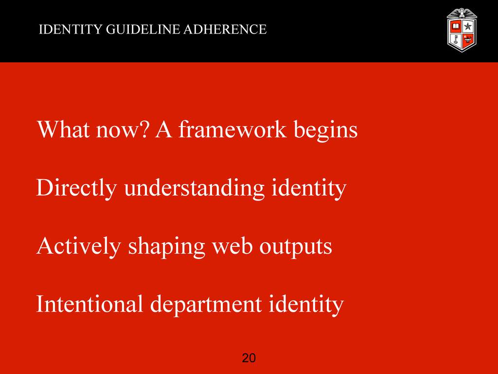 IDENTITY GUIDELINE ADHERENCE What now? A framew...