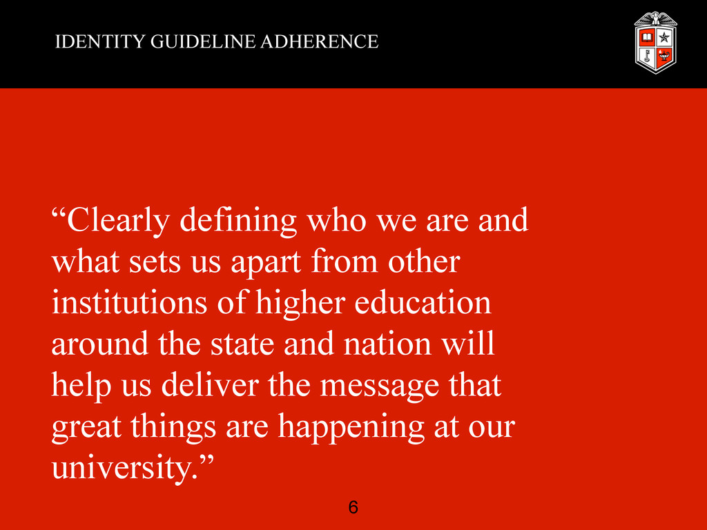 """IDENTITY GUIDELINE ADHERENCE """"Clearly defining ..."""