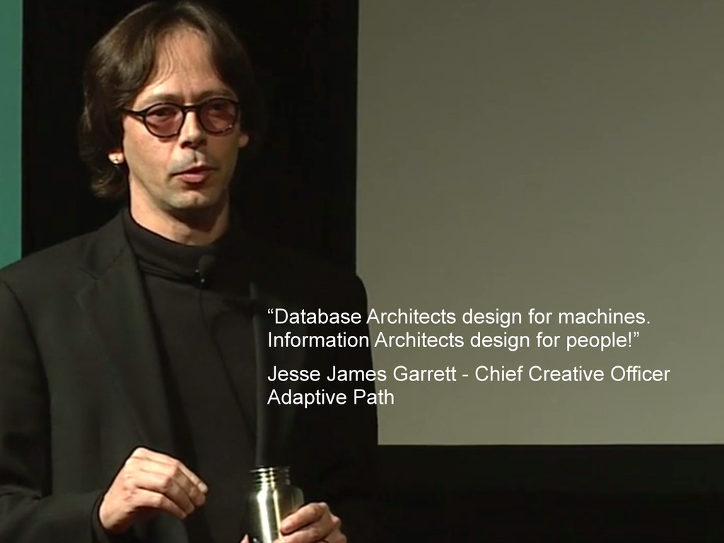 """""""Database Architects design for machines. Infor..."""