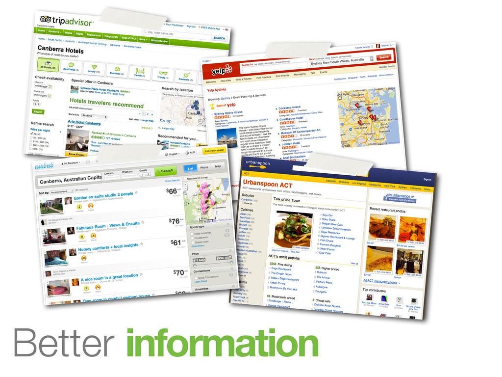 •Better reviews Better events Better food Bette...
