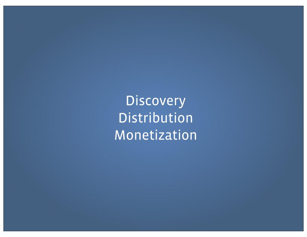 Discovery Distribution Monetization