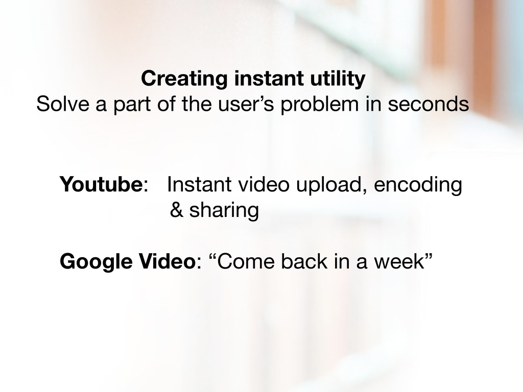 Creating instant utility Solve a part of the us...