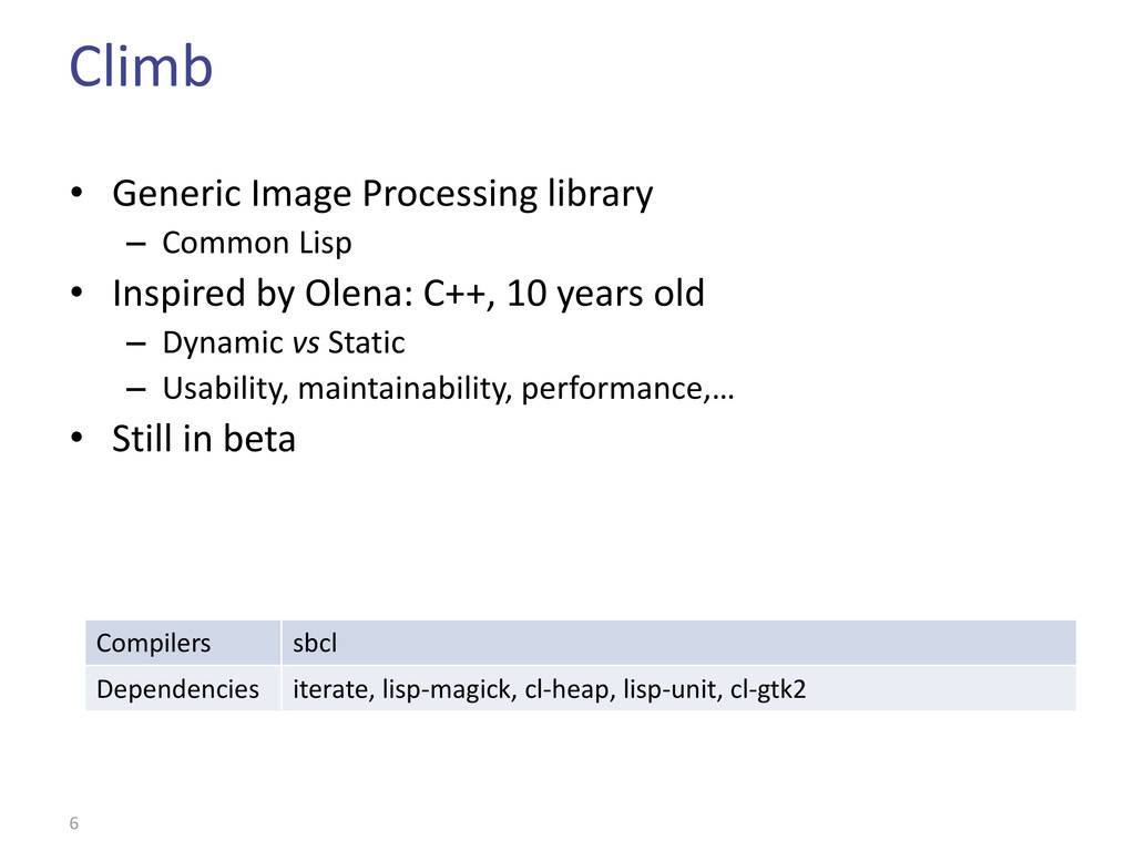 Climb • Generic Image Processing library – Comm...