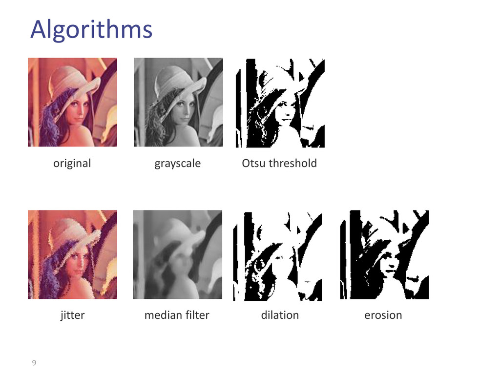 Algorithms 9 original grayscale median filter O...