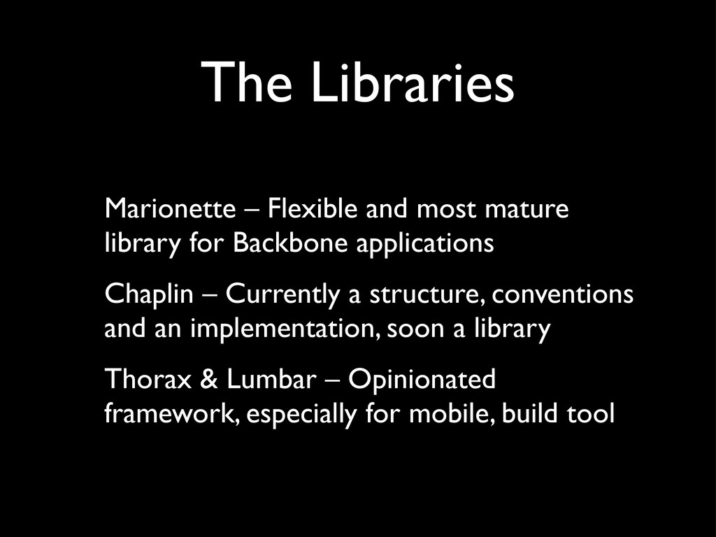 The Libraries Marionette – Flexible and most ma...