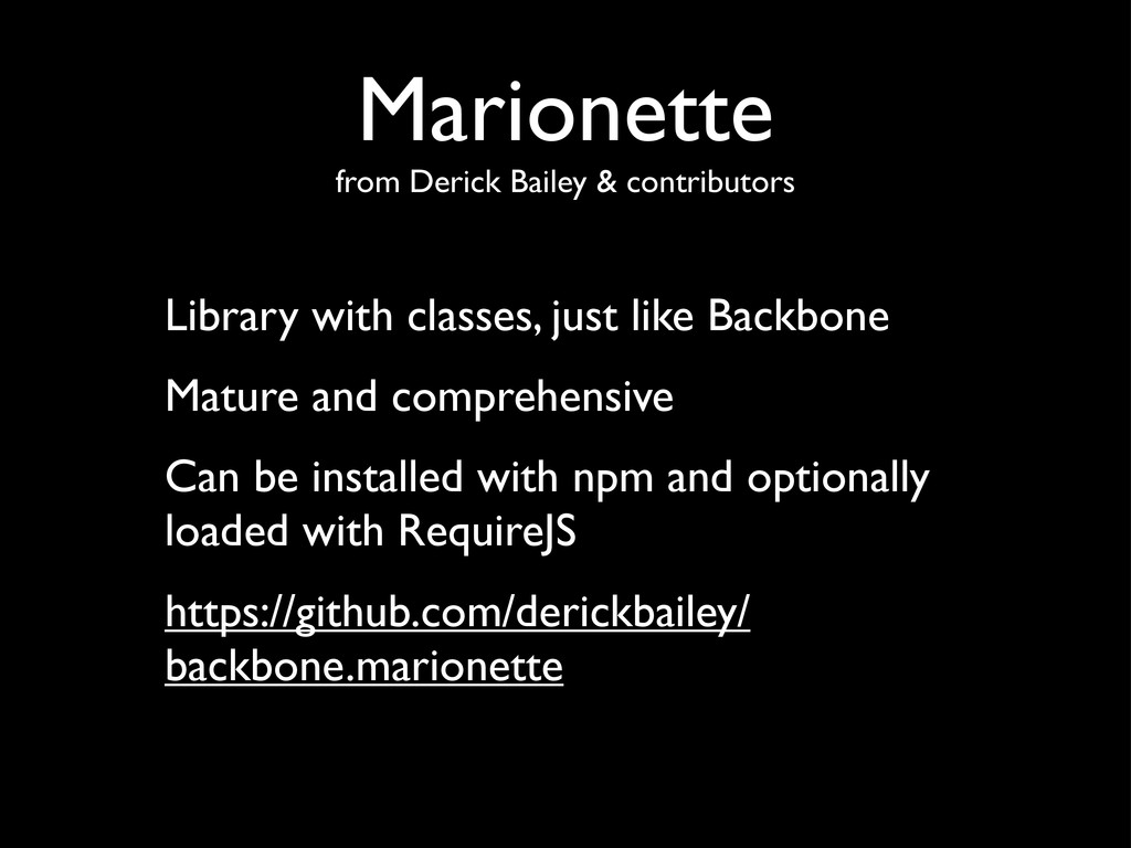 Marionette from Derick Bailey & contributors Li...