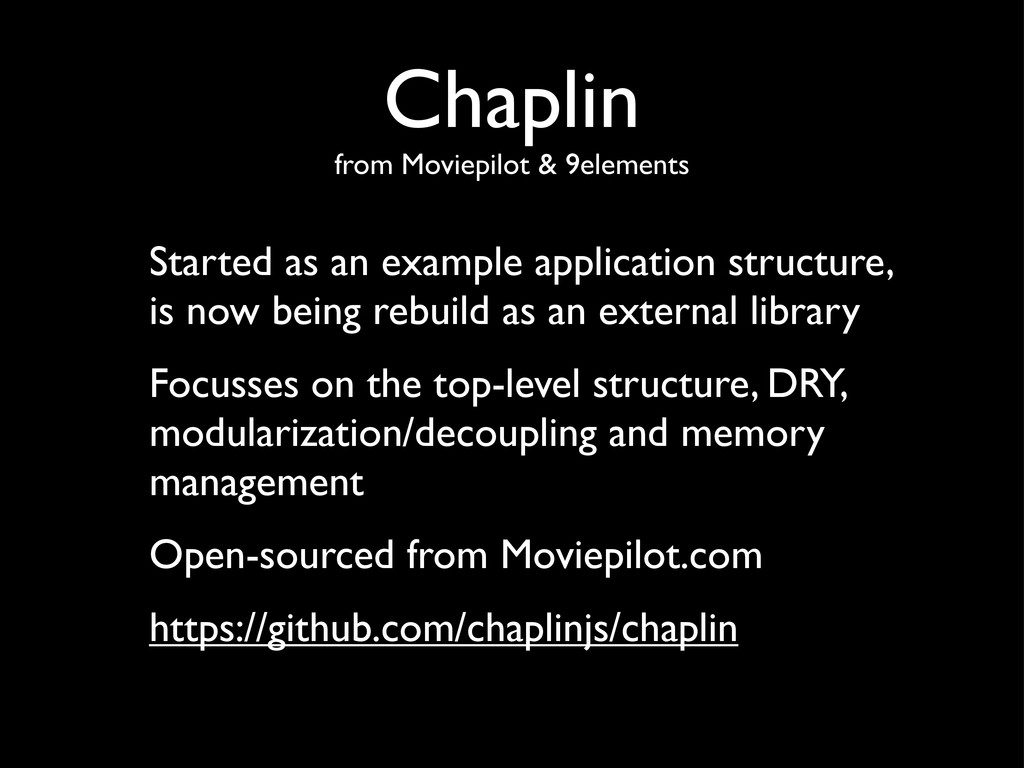 Chaplin from Moviepilot & 9elements Started as ...