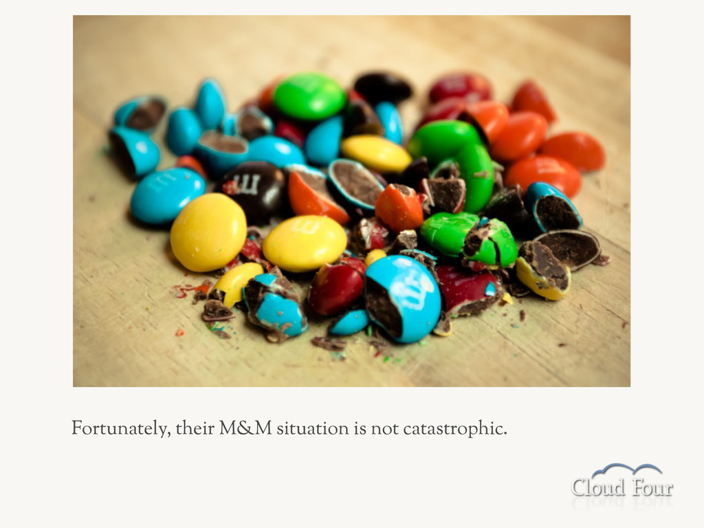 Fortunately, their M&M situation is not catastr...