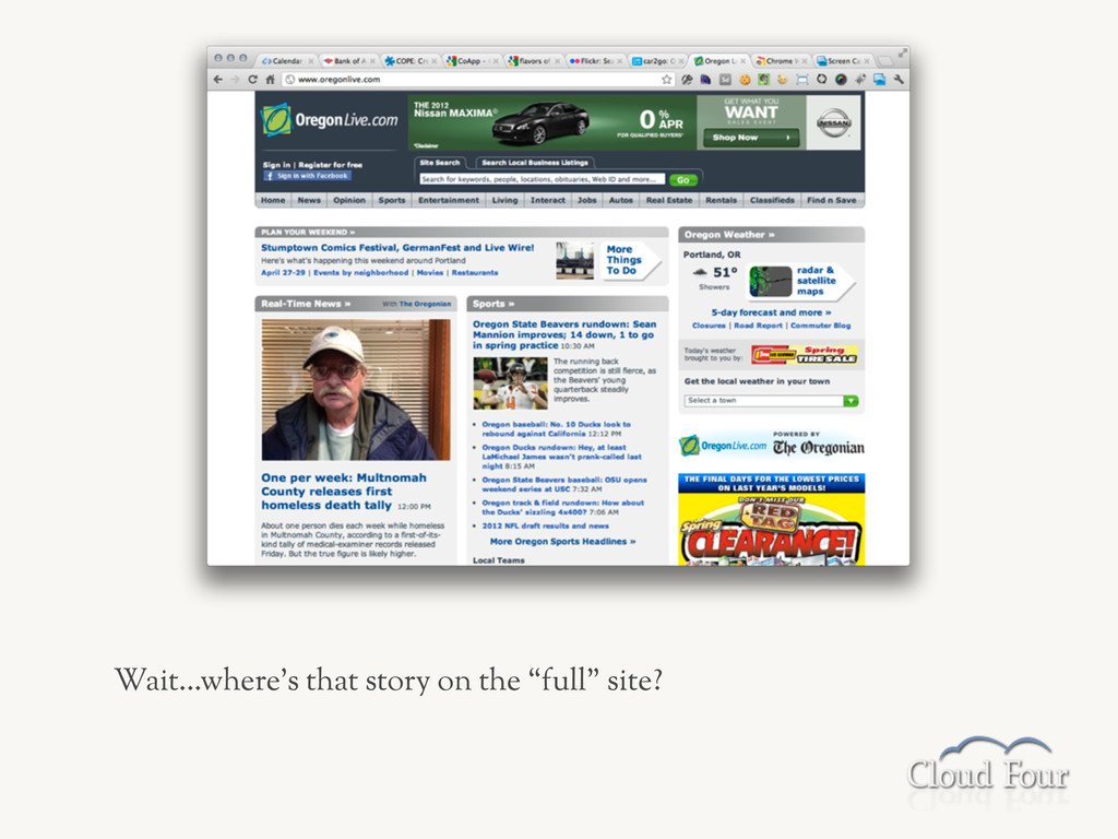 """Wait...where's that story on the """"full"""" site?"""