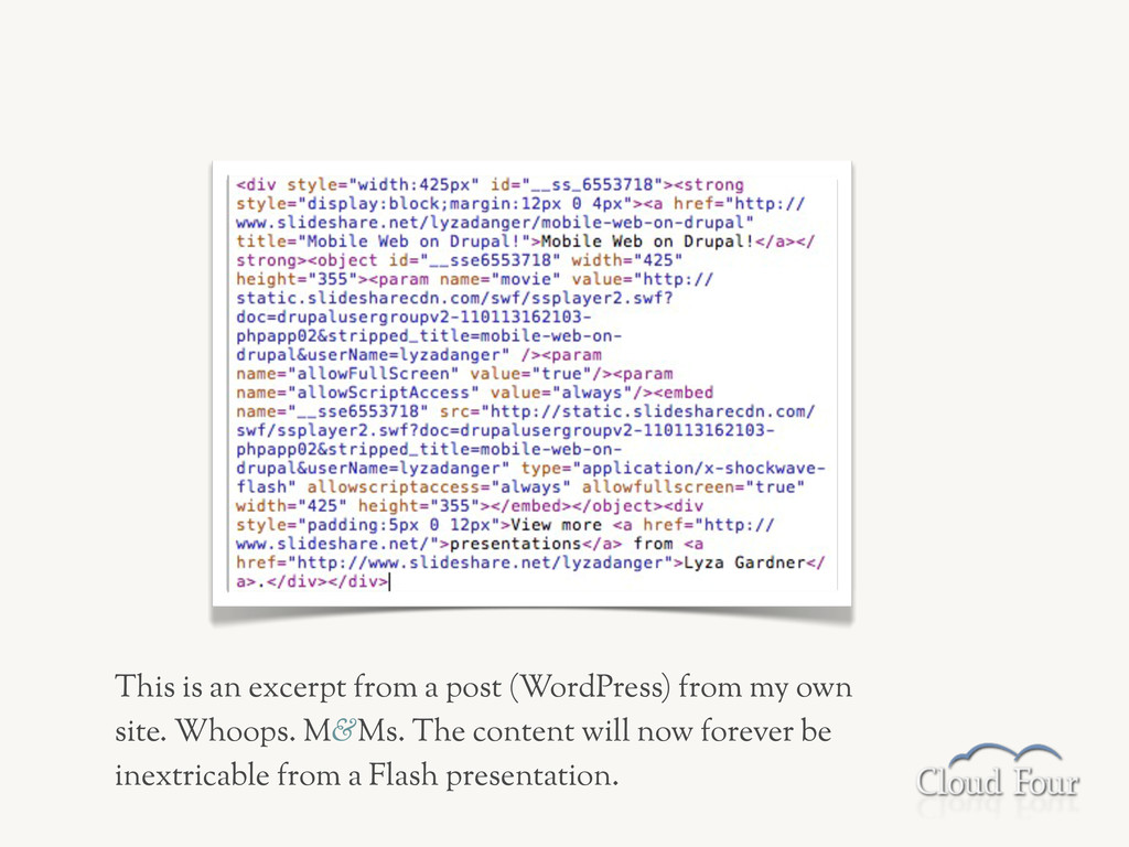 This is an excerpt from a post (WordPress) from...