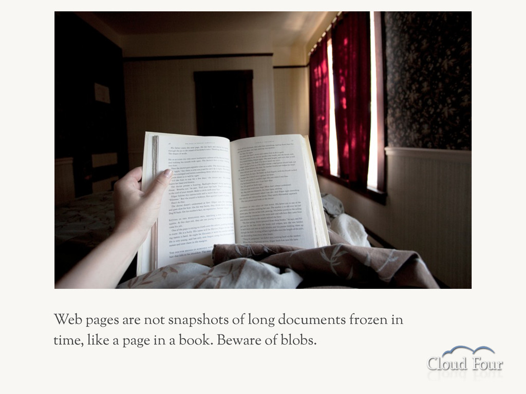 Web pages are not snapshots of long documents f...