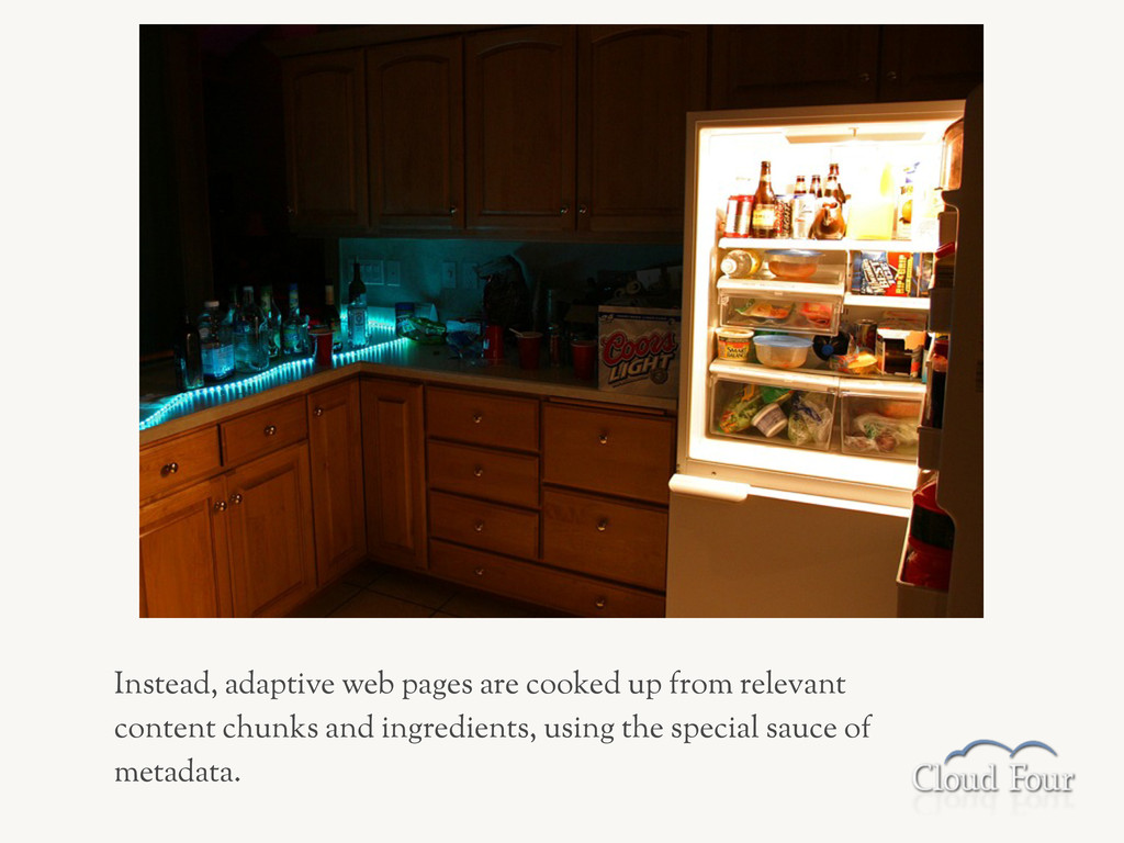 Instead, adaptive web pages are cooked up from ...