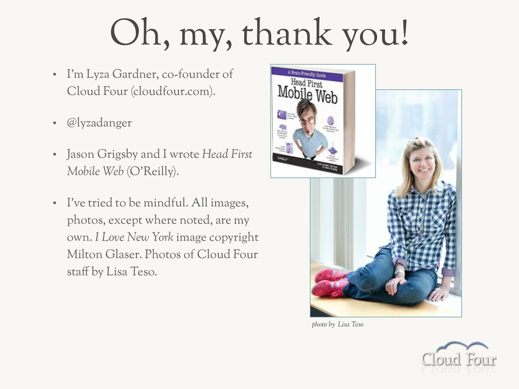 • I'm Lyza Gardner, co-founder of Cloud Four (c...