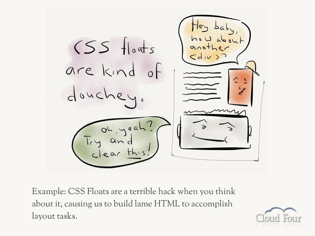 Example: CSS Floats are a terrible hack when yo...