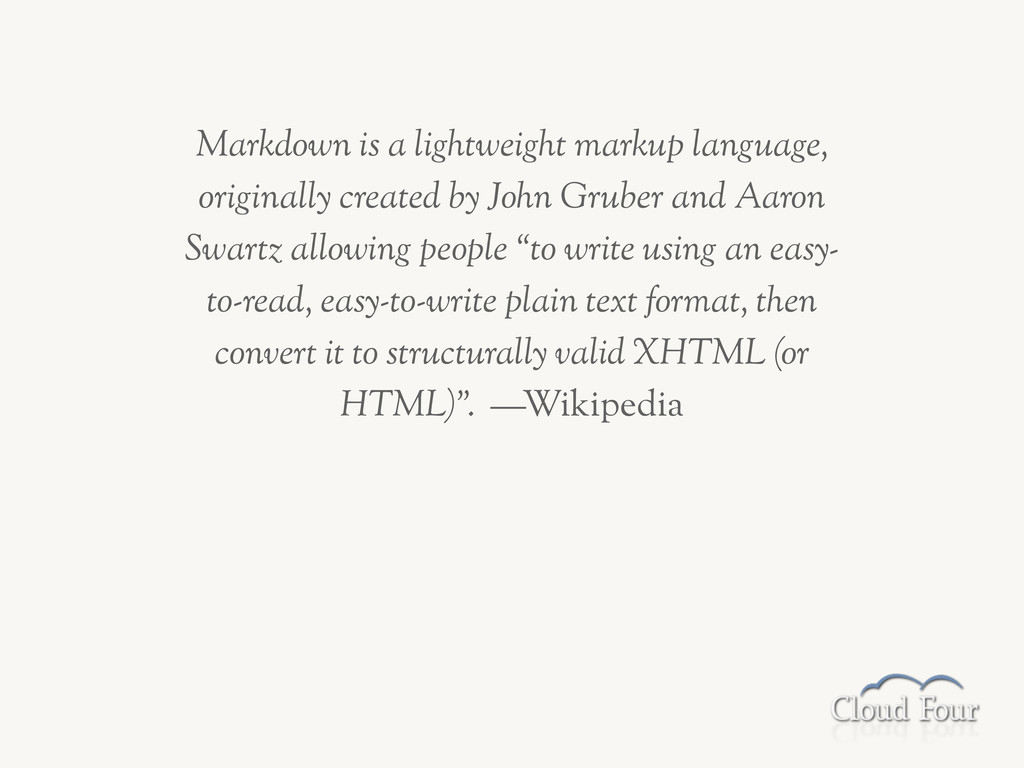 Markdown is a lightweight markup language, orig...