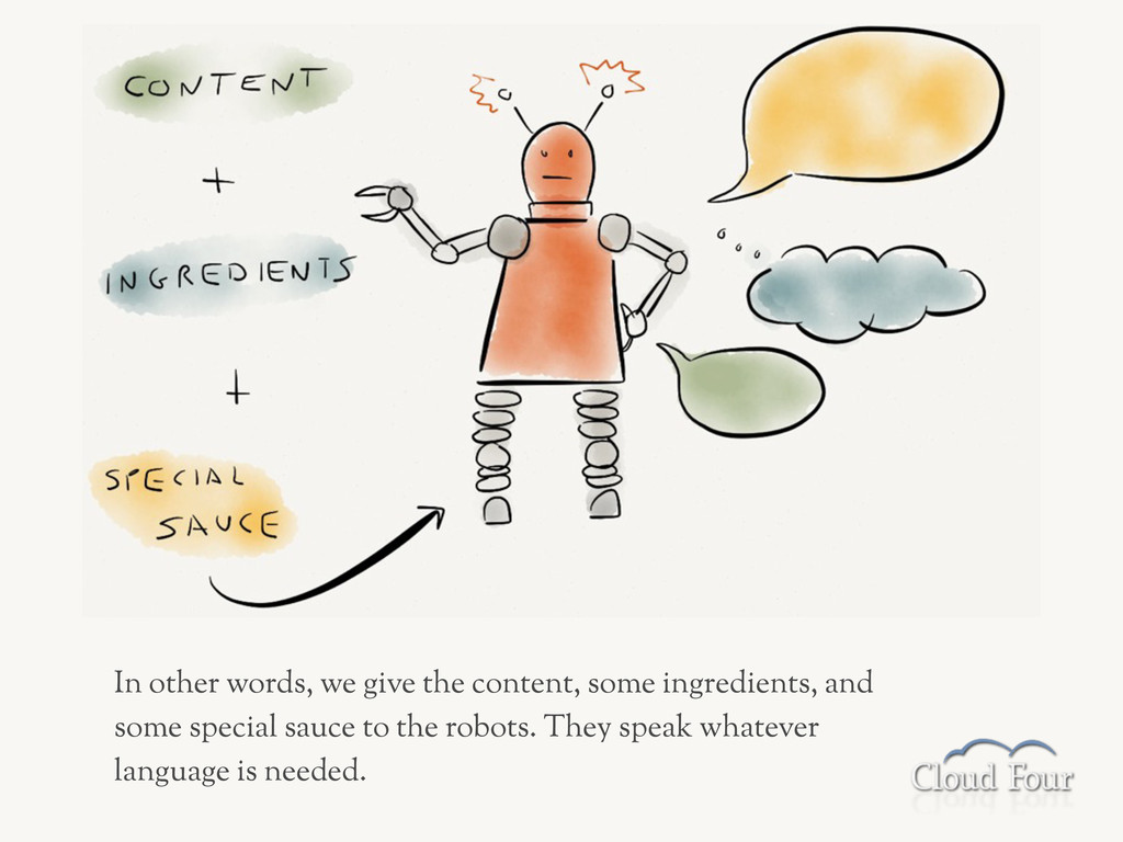 In other words, we give the content, some ingre...