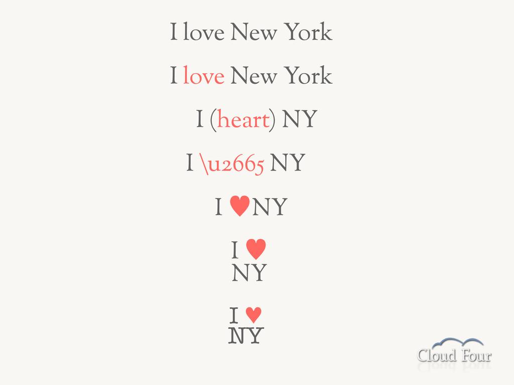 I —NY I love New York I love New York I (heart)...